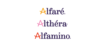 Althéra, Alfamino, Alfaré Logo